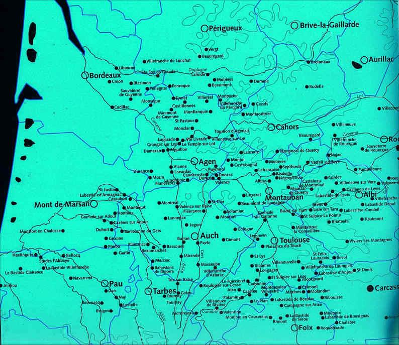 Bastides Carte Bastides France Sud Ouest Aquitaine